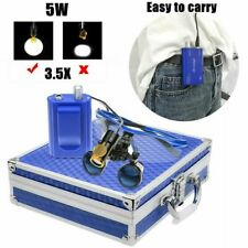 Dental 5w Led Head Light Filter Amp Belt Clip 35x Binocular Loupes Box Blue