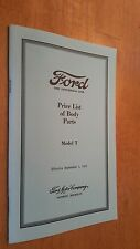 Ford The Universal Car Reprint Price List Body Parts 1923