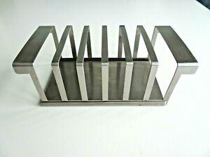 Vintage Mid Century 18/8 Stainless Steel Toast Rack 6 Slice Made in Hong Kong