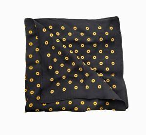 Emporio Armani Unisex Foulard 621012 Scarf Black Yellow