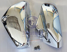 Mutazu Chrome Left & Right Side Covers for Suzuki C50 VL800 Volusia VL 800 Pair