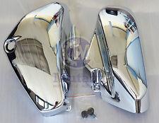 Mutazu Chrome Left & Right Side Covers for Suzuki C50 VL800 Volusia VL 800 Pair