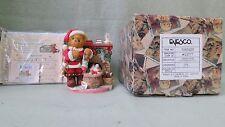 Cherished Teddies Figure Santa With Fireplace #534242H Bradford Corp.