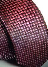 New Red Black Spot Dot Casual Slim Narrow Mens Tie Burns Night UK Seller Father