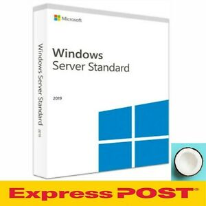 Windows Server 2019 Standard 64 Bit [Sealed Full Version] DVD+COA 16 Core 5 CAL