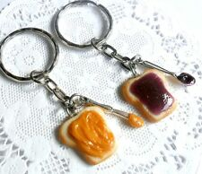 Peanut Butter and Jelly Keychain Set, Knife & Spoon, BFF Best Friend's Keychains