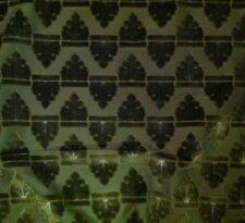 DONGHIA Sherwood Velvet Knightly Crest Green Velvet 5 Yds New