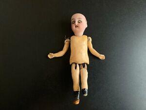 Antique GERMAN Bisque Head Doll with Brown Eyes - KAMMER & REINHARDT - 6 Inches