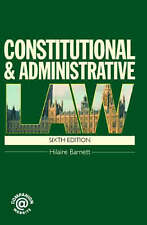 Constitutional & Administrative Law, Barnett, Hilaire, Excellent Book