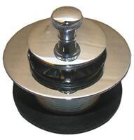 """2PK Chrome Plated Brass Bathtub Lift & Turn Drain 1-1/2"""" Threads"""