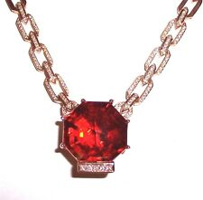 SAVE $1,000: 14k Rose Gold Madeira Citrine and Diamond Necklace 53+ Grams!