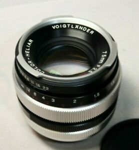 Voigtlander Color-Heliar SL 75mm f2.5 Lens C/FD Fit with Lens Hood