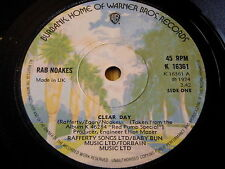 """RAB NOAKES - CLEAR DAY   7"""" VINYL"""
