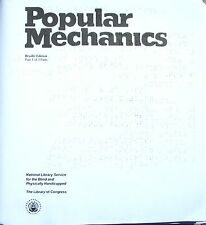 Popular Mechanics - July / August 2018 (Braille for the blind)