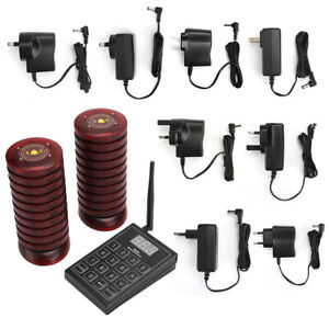 Wireless Queuing Paging System+10/20/30 Coaster Pagers SU-680 Restaurant Cafe