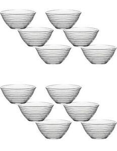 LAV 12tlg Glasschalen Derin Schalen Glasschale Dessertschale Vorspeise Glas Gläs