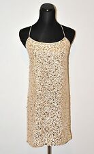 J Crew Collection Galaxy Slip Sequins Dress Ivory Gold 0 $495