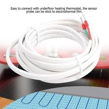 3 Meters Underfloor Heating Thermostat Floor Temperature Sensor Probe 10k White