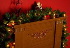 Weihnachtsgirlande mit 35 LED - Batterie + Timer - Tannen Girlande Außen Innen