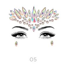 Adhesive Face Gems Glitter Jewel Tattoo Sticker Body Make Up Festival Rave (2x)
