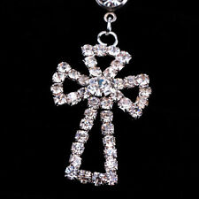 Rhinestone Cross Dangle Navel Belly Button Bar Ring Body Piercing Jewelry HOT