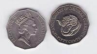 1991 50 Cent Coin Australia Decimal Currency 25th Sheep Ram farm wool shearing