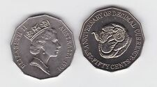 1991 50 Cent Coin Australia Decimal Currency 25th Sheep Ram farm wool shearing