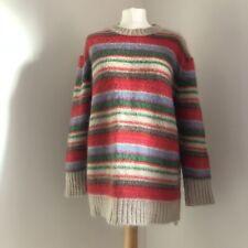 DEAR DHARMA LOVES MOHAIR Jumper Size Medium Stripe Wool Blend Scandi