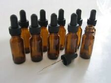 1/2 Oz Amber Glass Bottle with Glass Eye Dropper (15ml) - Pack of 10, New