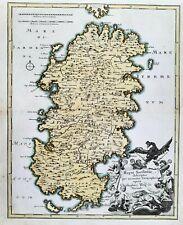 Sardegna Sardinia Sardinien island Italia Italy carta map Karte Weigel 1720