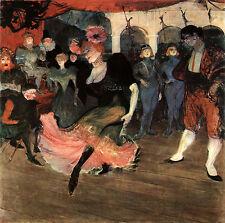 Marcelle lender Dancing the Bolero Henri Toulouse-Lautrec Stage Deckle H a3 0417