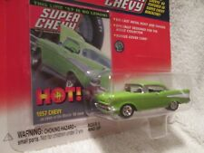 JOHNNY LIGHTNING 1957 BELAIR SUPER CHEVY MAGAZINE cover 1/64 JL Lime Green