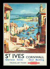 St Ives Glorious Sands Cornwall - Framed 30 x 40 Official Print