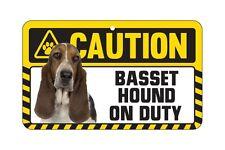 Dog Sign Caution Beware - Basset Hound