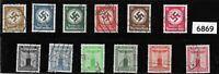 #6869  1934 - 1945 Party Officials stamp set / 12 different Third Reich Germany