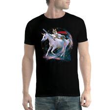 Unicorn Cat Galaxy Mens T-shirt XS-5XL