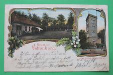Sachsen Litho AK Gruss vom Valtenberg Neukirch 1906 Gasthaus Turm Jugendstil S1