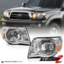 For 05-11 Toyota Tacoma FACTORY STYLE Crystal Clear Chrome Headlight Left+Right