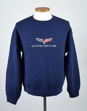 Vtg 90s Corvette Navy Blue Sweatshirt Shirt Long Sleeve Heavy Cotton Mens Size L