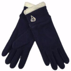 Los Angeles Rams Womens NFL Navy Winter Fleece Reebok Gloves New W/Tags M,L