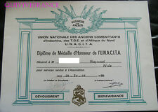 DIPLOME MEDAILLE ANCIENS COMBATTANTS INDOCHINE AFN