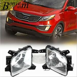 for 2011-2013 Kia Sportage Front fog lamp Drive lamp Driving lights 2pcs/1set