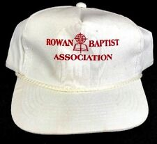 Rowan Baptist Association White Vintage Trucker Flat Bill Snap Back Skater Hat