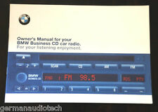 BMW BUSINESS CD PLAYER RADIO STEREO BLAUPUNKT CD43 - OWNER'S MANUAL GUIDE BOOK