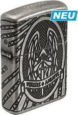 """ZIPPO LIMITED """"ST. MICHAEL"""" SILVER ANTIQUE 8 SIDES DEEP ENGRAVED LIGHTER * NEW *"""