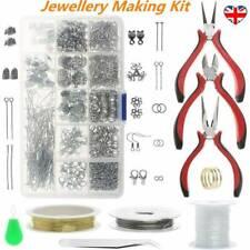 Earring Jewellery Making Kit Wire Findings Pliers  Tools Necklace Repair UK
