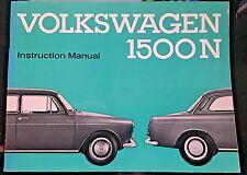 Volkswagen 1500N Instruction Manual 1964 with Australian maintenance chart