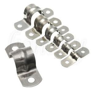 3/5/10/20 Pcs Stainless Steel Plumbing Tube Saddle Pipe Clips Bracket  7 Sizes
