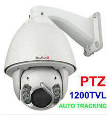 "1200TVL 1/3"" SONY CMOS 30x Zoom IR PTZ DOME Security Auto Tracking CCTV Camera"