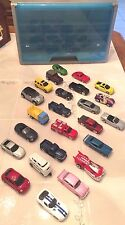 MAISTO DIECAST LOT OF 24 CARS, TRUCKS AND OTHER 1/64 PLUS A HOT WHEELS CASE